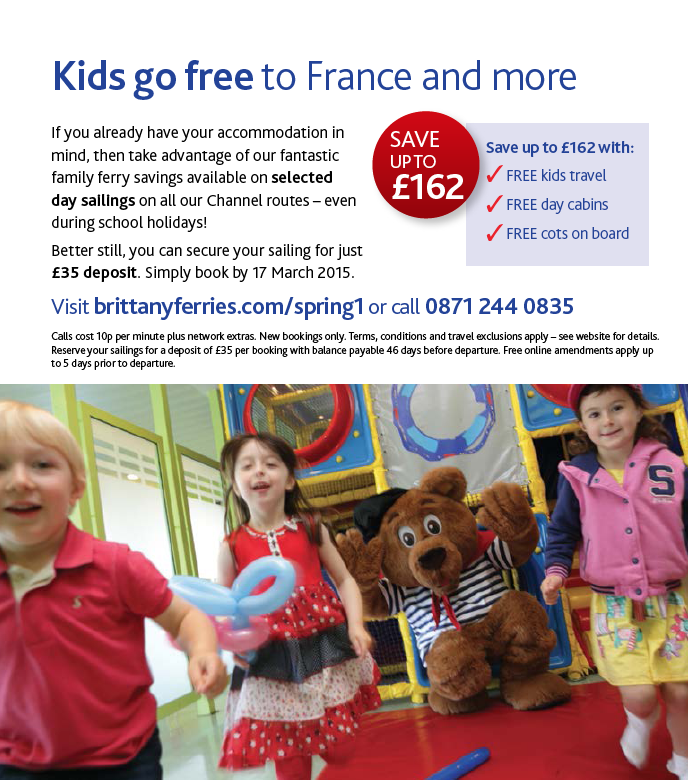 kids go free on brittany ferries
