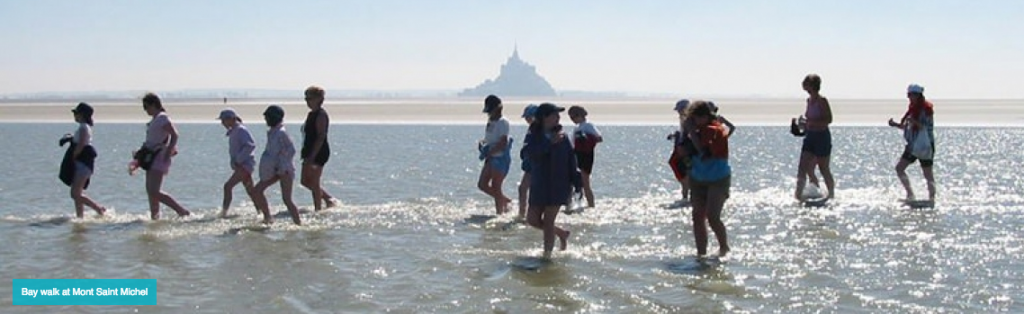family hike to mont st michel