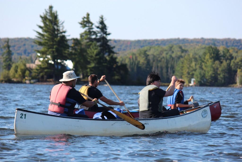 Voyageur Quest Canoe Trip - Lake Paddle