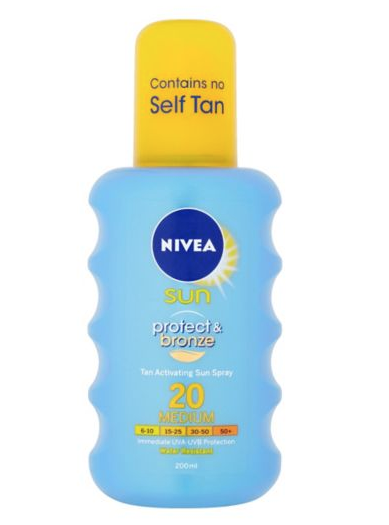 Nivea's Protect & Bronze Spray  - £8.50