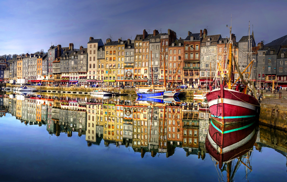 This is Honfleur -n just a short 30 minute drive from  to docks at Le Havre