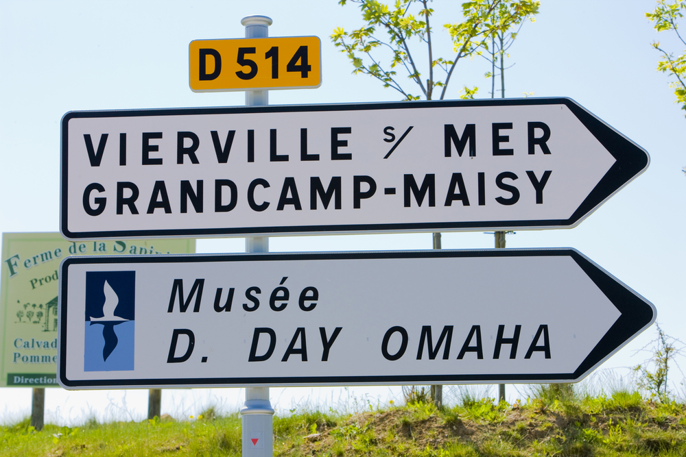 Normandy Road signs - image courtesy of Shutterstock