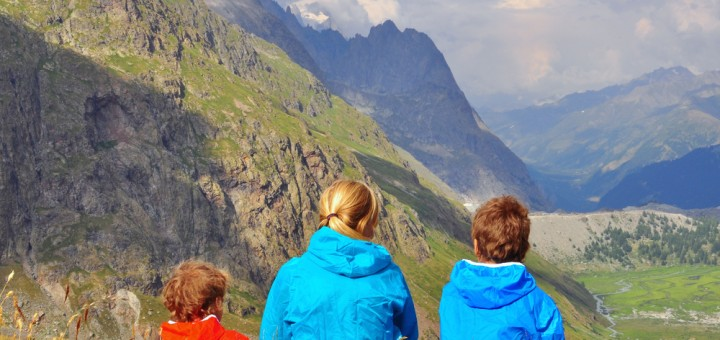kids hiking in the alps - Image courtesy of ShutterStock