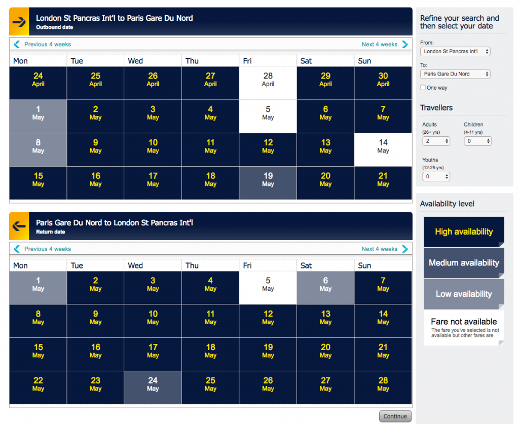 how to find the £29 Eurostar tickets