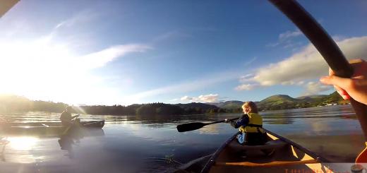 moonlit canoeing windermere