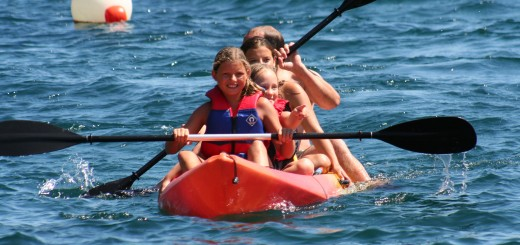 family camping in the Vendee